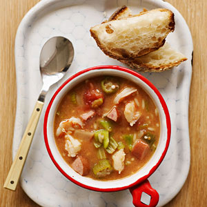 One pot shrimp gumbo
