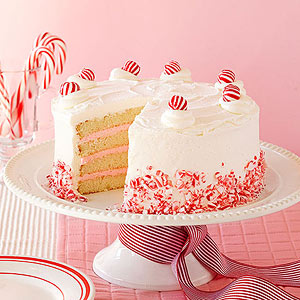 White Christmas Peppermint Layer Cake