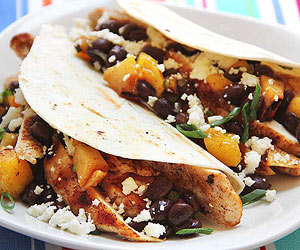 Grilled Chicken and Fruit Salsa Tacos
