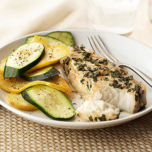 Garlic-Basil Halibut