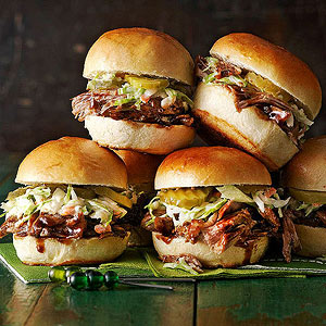 Balsamic Vinegar and Honey Pulled-Pork Sliders