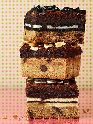 Cookie-stuffed brownies