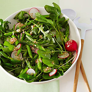 Watercress Arugula and Asparagus Salad