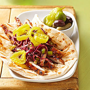 The Sticky Pork Tenderloin Naan Sandwich