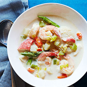Seafood and Spring Veggie Chowder