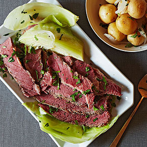 Beer Braised Corned Beef and Cabbage