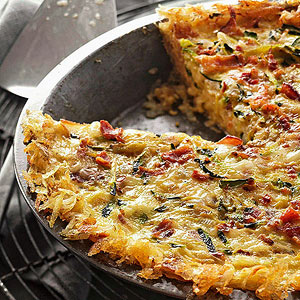 Hash-Brown-Crusted Quiche