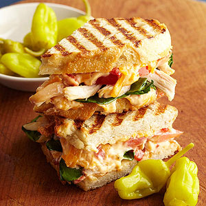 Chipotle Chicken And Cheddar Panini Midwest Living