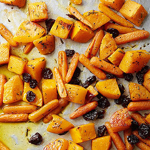 Orange Sauced Butternut Squash, Carrots and Dried Cherries