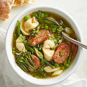 Spring Tortellini Soup | Midwest Living