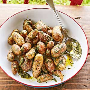 Roast Potatoes with Mint Pesto