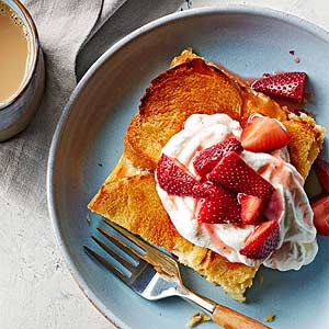 Honey French Toast with Macerated Berries