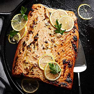 Quick-Roasted Salmon with Lemon and Herbs