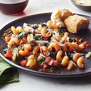 Pasta with Chard and Basil
