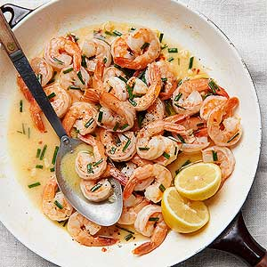 Spring Scampi with Chives