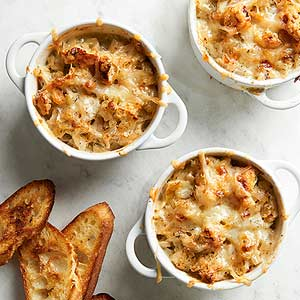 Onion, Apple and Cheese Gratin