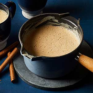 Roasted White Hot Chocolate with Malted Milk
