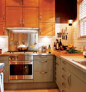 wood floors in kitchen with wood cabinets. The beauty and durability of wood may inspire you to lavish the material on  both cabinets floors in your kitchen For long term harmony be sure two Wood Basics Tips for Flooring Countertops Cabinets