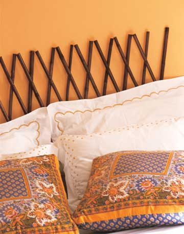 Easy Bamboo Headboard