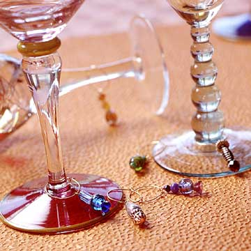 Beaded Wineglass Charms