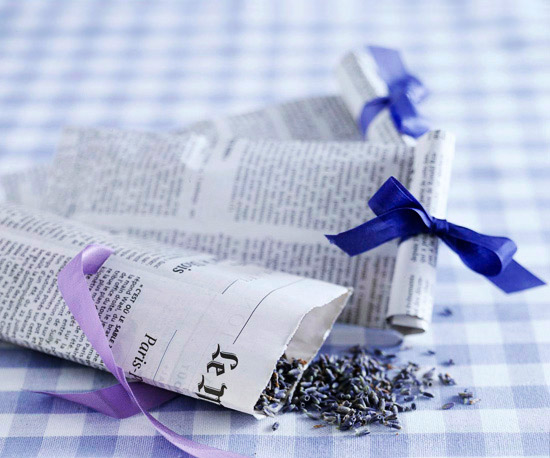 French Newspaper Confetti Bags