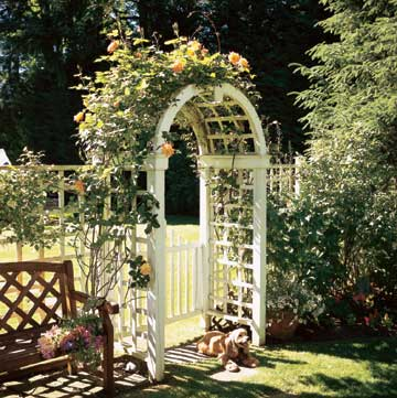 Rounded Arbor with a Gate