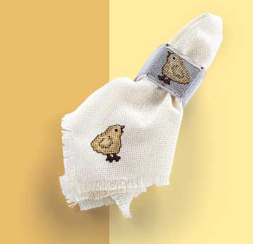 Chick Napkin and Napkin Ring