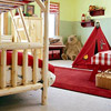 Camp Room: Bunks and Red Tent