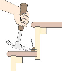 Wonderful Option 3: For Uncarpeted Stairs, You Can Tighten Joints By Adding Molding.  Cut A Strip Of Molding To The Width Of The Treat, Apply Glue And Put In  Place.