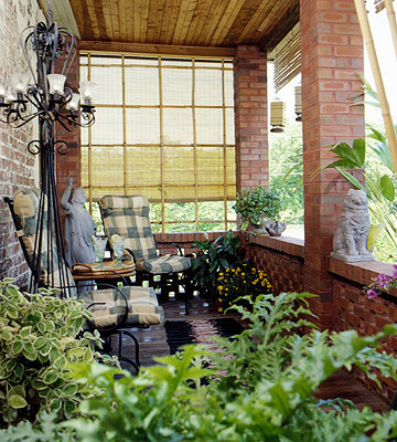 Bamboo Trellis and Valance
