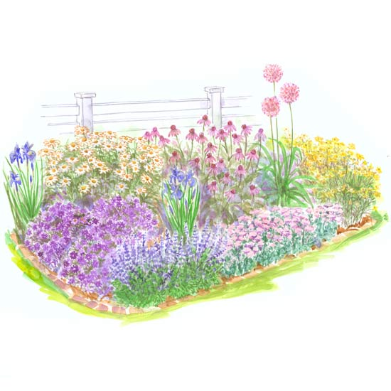 free garden plan - Perennial Flower Garden Ideas Pictures