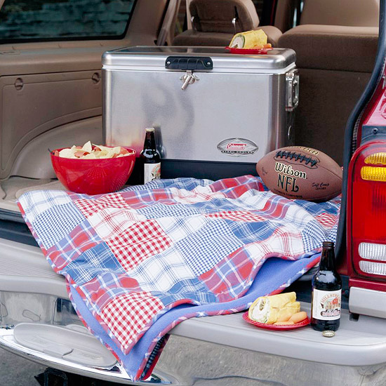 Patchwork Tailgating Blanket