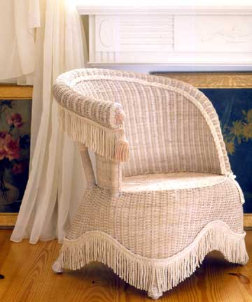 how to clean old wicker furniture