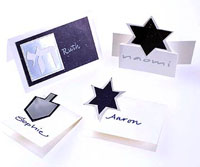 Hanukkah Party Place Cards