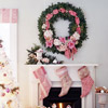 Pink Patterned Christmas Stockings