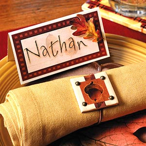 Thanksgiving Place Cards and Napkin Rings