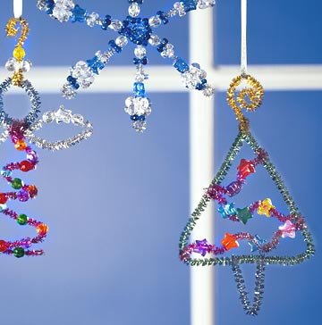 Bright Beads Christmas Ornaments