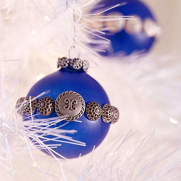 Button-Banded Christmas Ornament