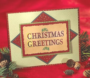 Stick-On Letters Christmas Card