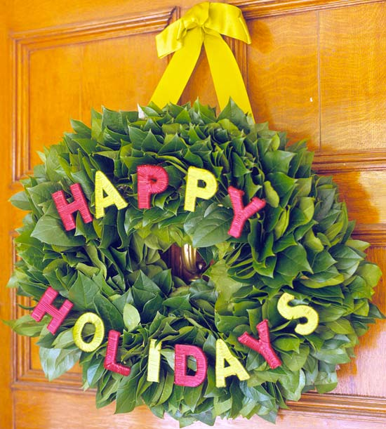 Happy Holidays Wreath Project