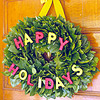 Colorful Letters Wreath