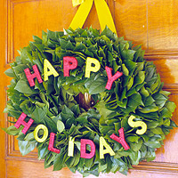 Front Door Holiday Wreaths