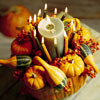 Pumpkin Centerpiece with Candles