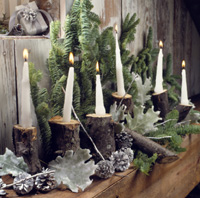 Nature Lover's Candles and Leaves