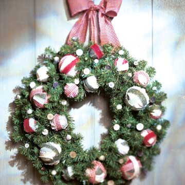 Homespun Holiday Wreath