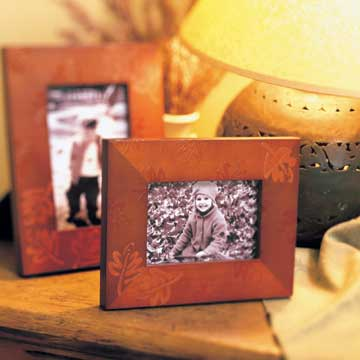 Autumn Amber Photo Frame