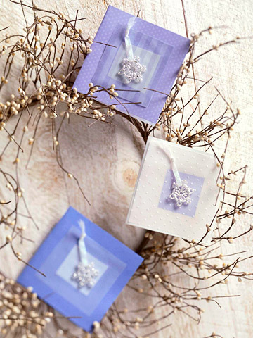 Beaded Snowflake Cards
