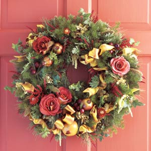 Wreath Ringed by Roses