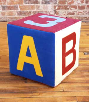 Kids' Number and Alphabet Play Block