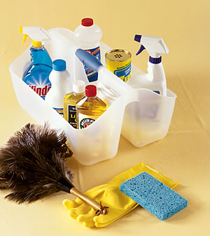 Stocking a Cleaning Caddy